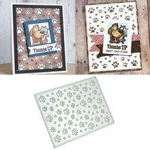 Отпечаток лапы DIY металлические режущие штампы Трафаретный Скрапбукинг штамп для альбомов бумажные карты искусство ремесла Декор