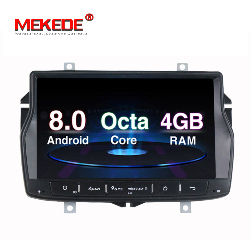 Russian menu Mekede 8core android 8 0 car dvd player headrest for Lada Vesta RADIO STEREO