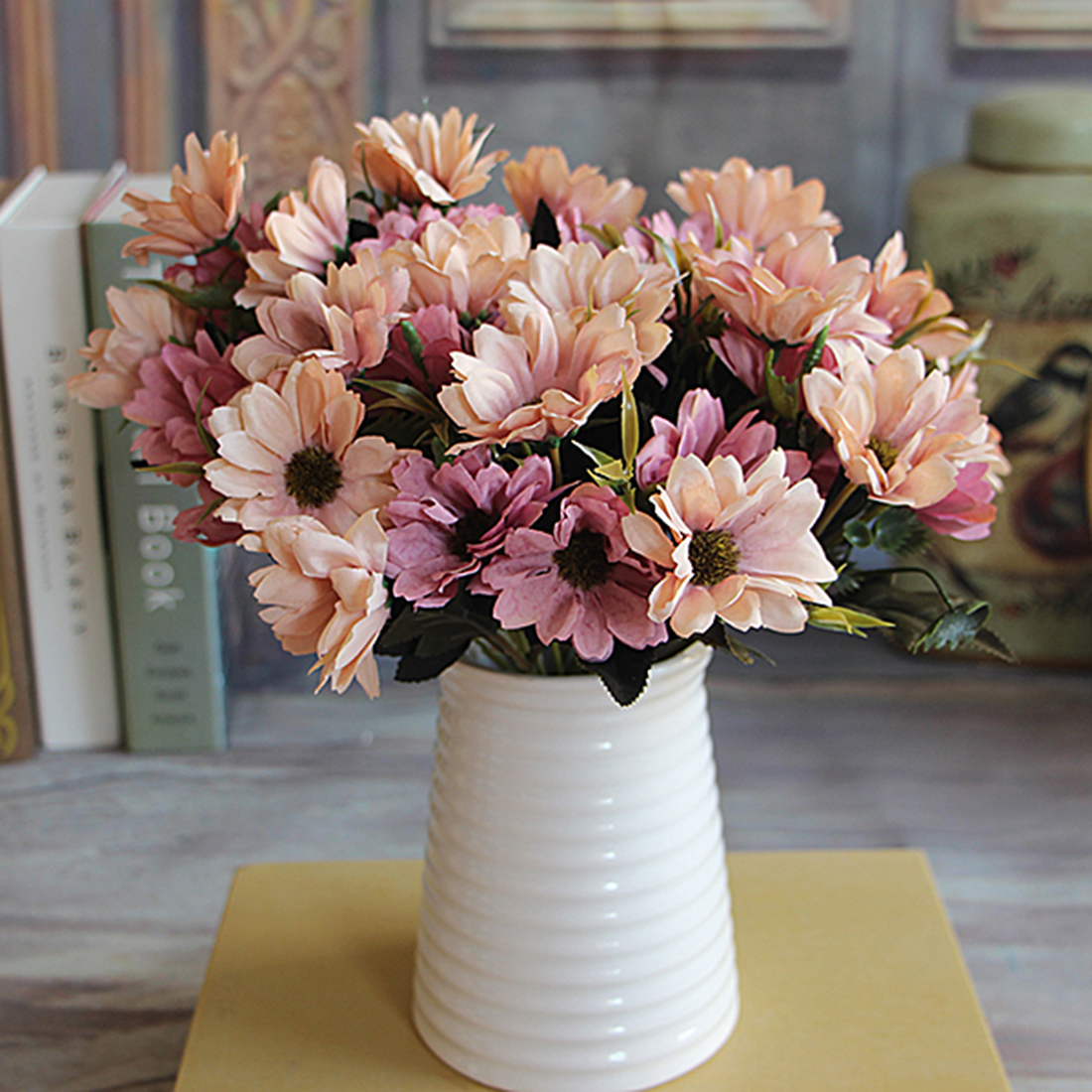6 Branches 10 Head Floral Artificial Flower Bouquet Silk Flowers