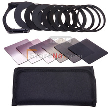 Free Shipping 6pcs ND2 ND4 ND8 Gradual ND2 4 8 Filter Set + 9pcs Ring Adapter for Cokin P