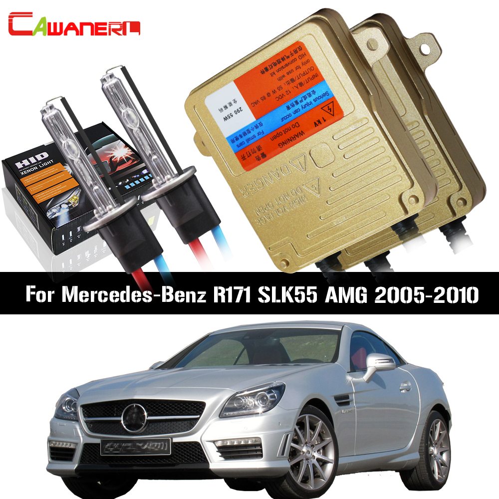 Cawanerl 55W No Error Ballast Bulb HID Xenon Kit AC Car Light <font><b>Headlight</b></font> Low Beam For Mercedes Benz <font><b>R171</b></font> SLK55 AMG 2005-2010 image