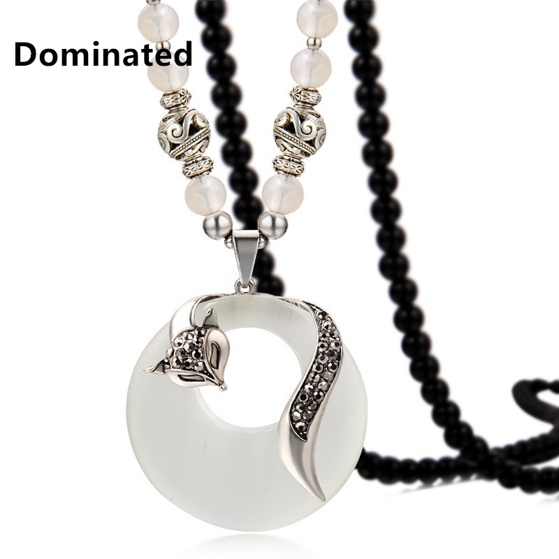 Dominated Women All-match Bead Necklace Pendant Pendant Female Fashion Sweater Chain mgpm16 20 smc type mgpm mgpl series three rod guide pneumatic cylinder mgpm 16 20 mgpm16 20z mgpm16x20