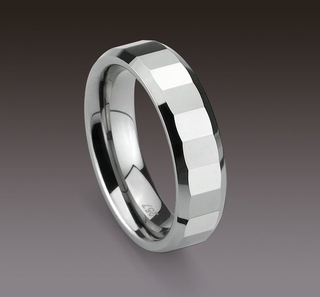 Wholesale 5pcs best selling New Arrival Guaranteed 100% Tungsten Carbide Polished Polygon Wedding Band Ring Gift by EMS shipping