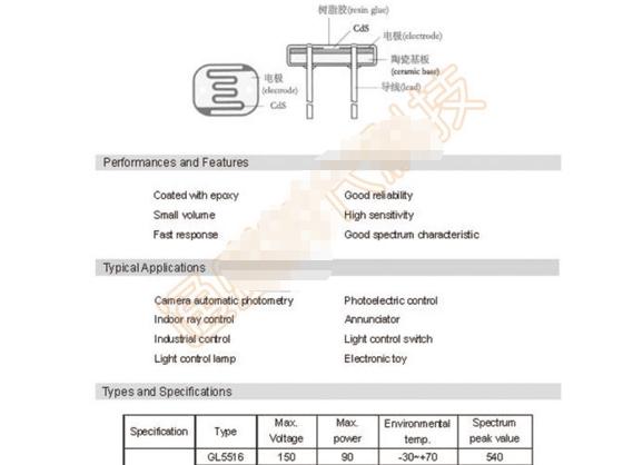DZ305 10PCS inoffensifs photoresistor 5 mm 5800B LDR Résistance Light-Dependen T #