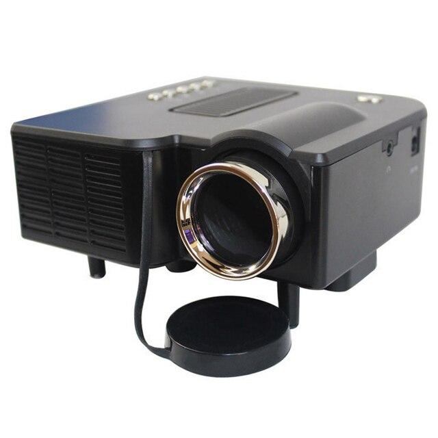 2015 Venta Caliente UC28 + Proyector HD 1080 P Mini Digital LED Video Game Proyectores Multimedia Jugador Entradas AV VGA USB SD HDMI