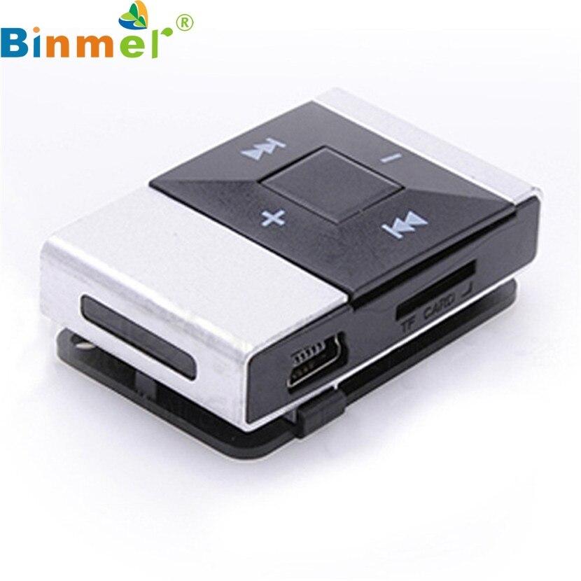 Binmer A18 Нов мини USB клип Цифров Mp3 Музикален плейър Поддръжка 8GB SD TF карта