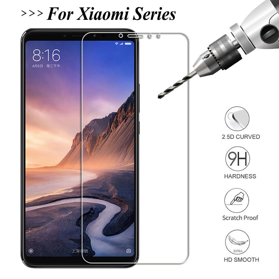 2.5D Mi 8 Lite Tempered Glass For Xiaomi Mi Mix 3 8 9 SE 9T A1 A2 Lite Pro Mix 2s Pocophone F1 Mi 9t Pro Screen Protector Glass