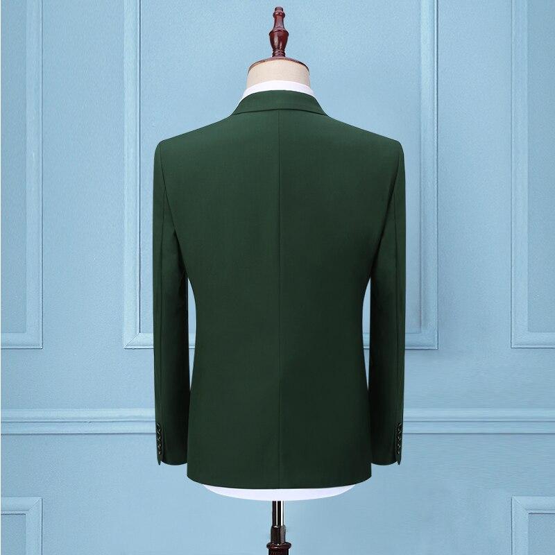 Comprar Trajes verdes negros para hombre delgados Unidades 3 piezas  conjuntos elegantes trajes de fiesta disfraz Homme Mariage esmoquin  (chaqueta + ... ac8d8c2376e