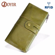 JOYIR Design Wanita Clutch Fashion Clutch Dompet Wanita Kulit Tulen Panjang Wallet Wanita Zip Purse Coin Purse Money Phone Bag RFID
