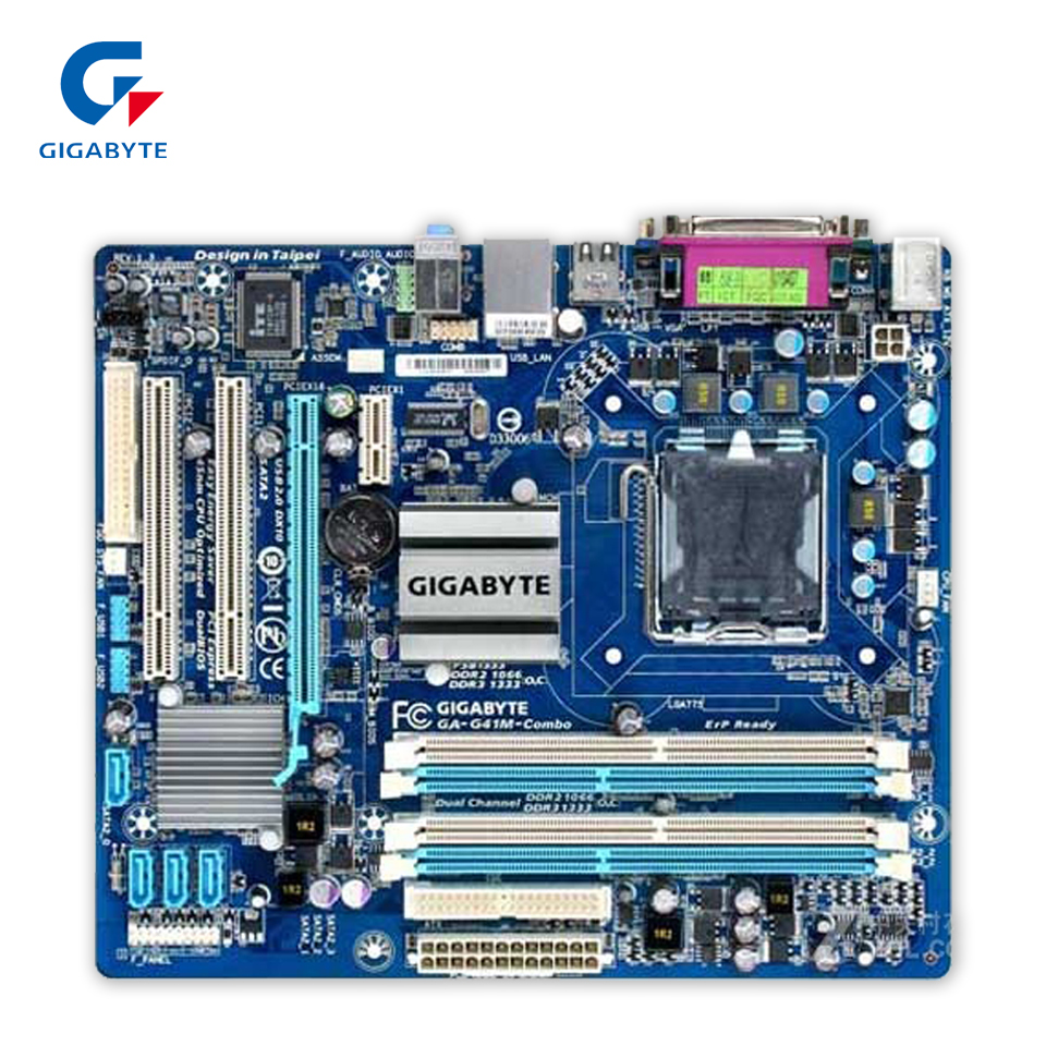 все цены на Gigabyte GA-G41M-Combo Desktop Motherboard G41M-Combo G41 LGA 775 DDR3 4G SATA2 USB2.0 ATX