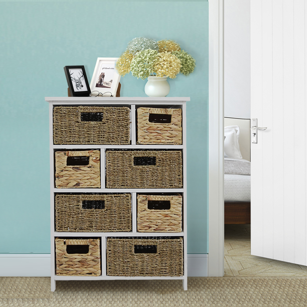 8-Drawer Bathroom Storage Unit Solid Hallway Chest of Drawers Bathroom Vanities HOT SALE solid wood chest of drawers five drawer cabinet