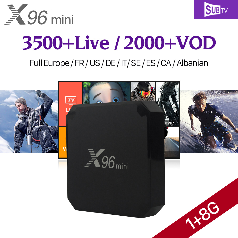 X96 mini Android 7.1 Smart TV BOX QHDTV Code 1 Year SUBTV IUDTV Subscription X96mini IPTV Europe French Arabic IPTV Top Box smart iptv box quad core android tv box 1g 8g with arabic iptv europe iptv subscription 1 year qhdtv iudtv account media player