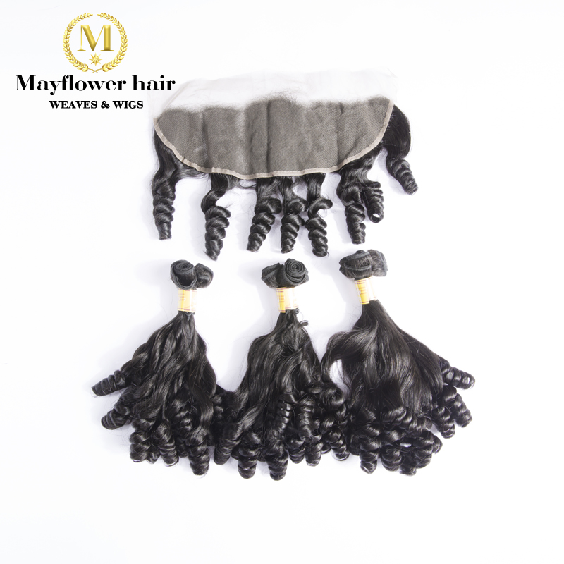 Mayflower Funmi Hair 2/3 Bundles Spring Curl With 13x4