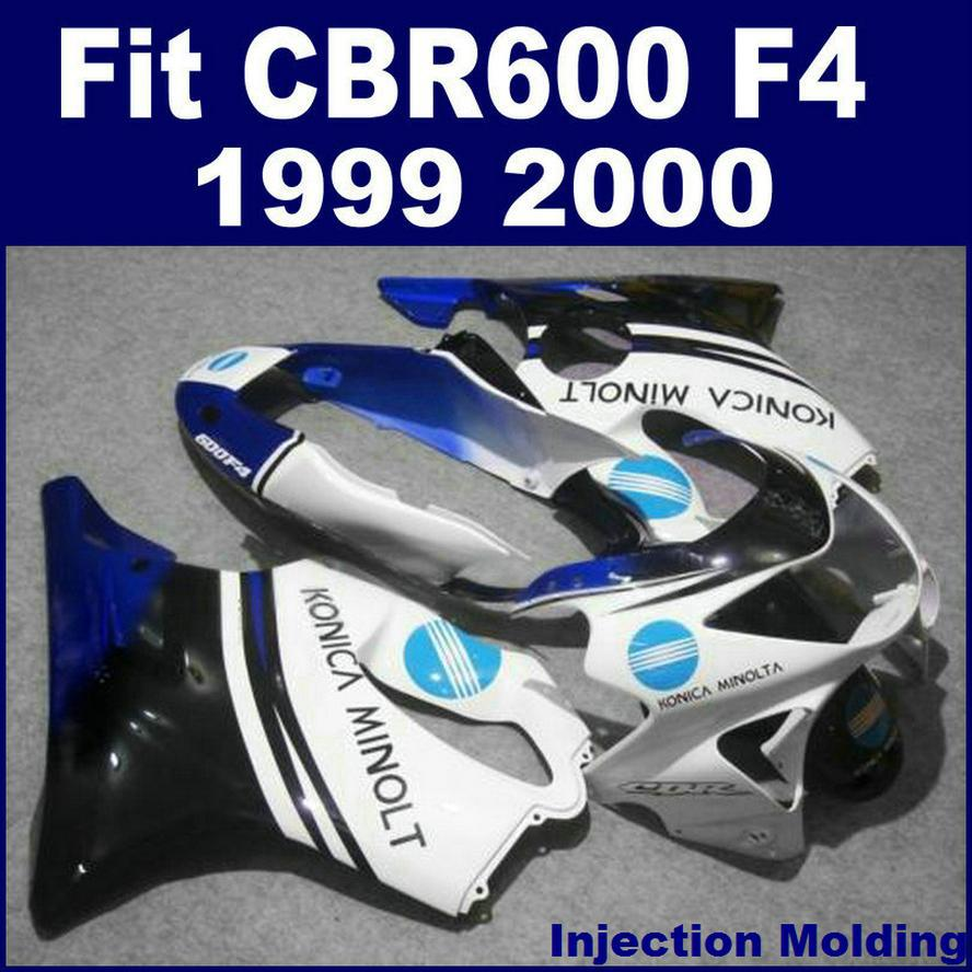 Injection Molding Customize For HONDA Fullset Fairing Sets CBR 600 F4 1999 2000 White 99 00 Cbr Parts ZRTH