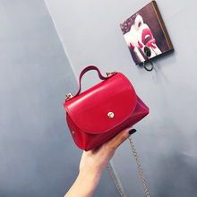 Chic chain bag women 2019 new simple small square bag summer shoulder slung bag