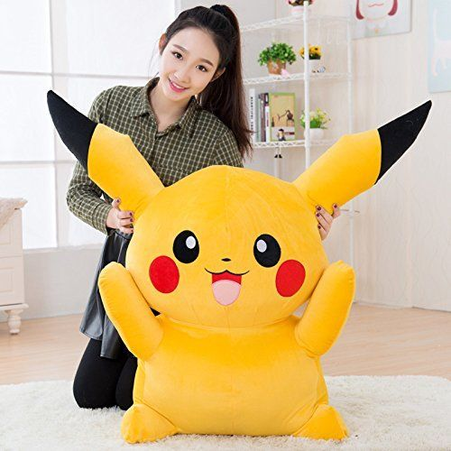 1pcs 80CM Big Digimon Pikachu Pokemon Plush Giant Large Stuffed Toy Doll Pillow