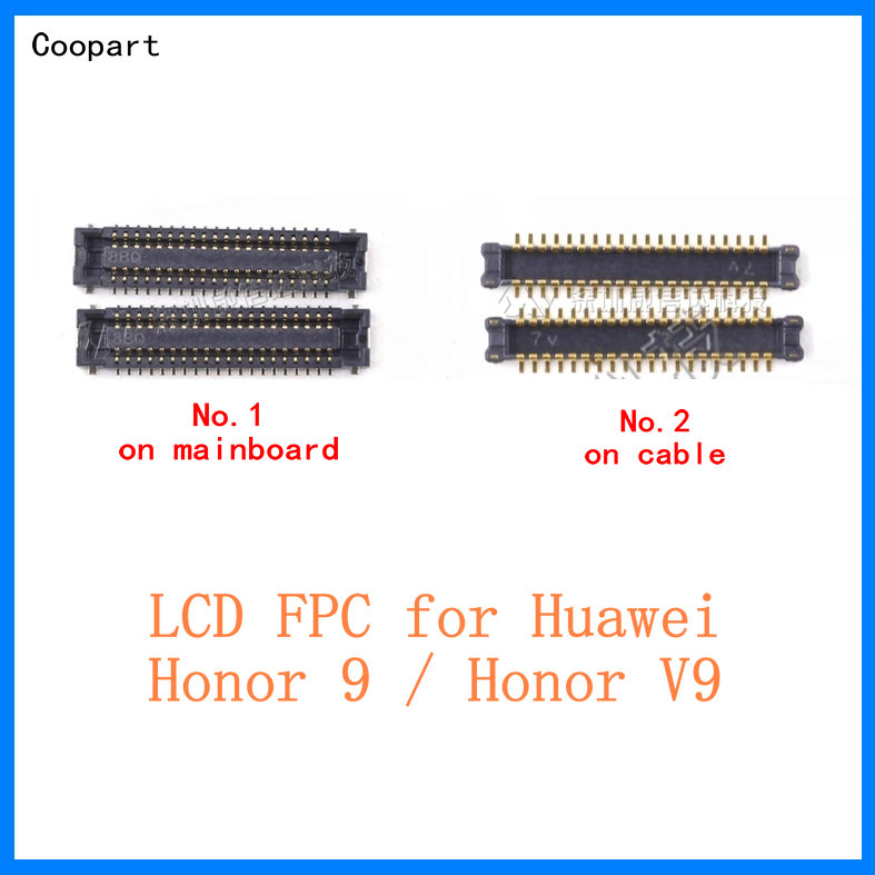 2pcs Coopart 40PIN FPC <font><b>Connector</b></font> Port Plug for LCD <font><b>display</b></font> on Mainboard/cable for Huawei Honor 9 / Honor V9 DUK-AL20 top quality image