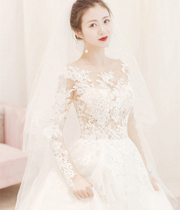 Image 2 - Cheap Wedding Dress 2020 New Mrs Win Full Sleeve Classic Embroidery Lace Up Ball Gown Princess Wedding Dresses Robe De Mariee F