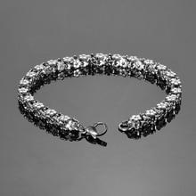 LASPERAL 1PC Bracelet Stainless Steel Flowers Bracelets For Women Fashion Charm Bracelet Jewelry Firt Romantic Love Gifts 20cm