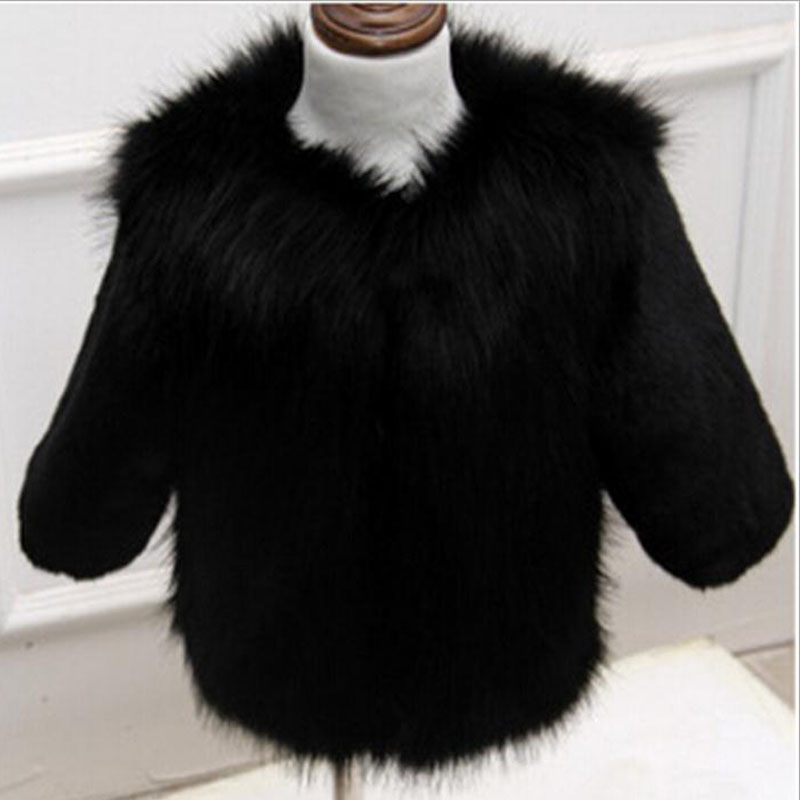Célèbre Mode fausse fourrure enfants filles hiver épais manteau Parkas  WL32