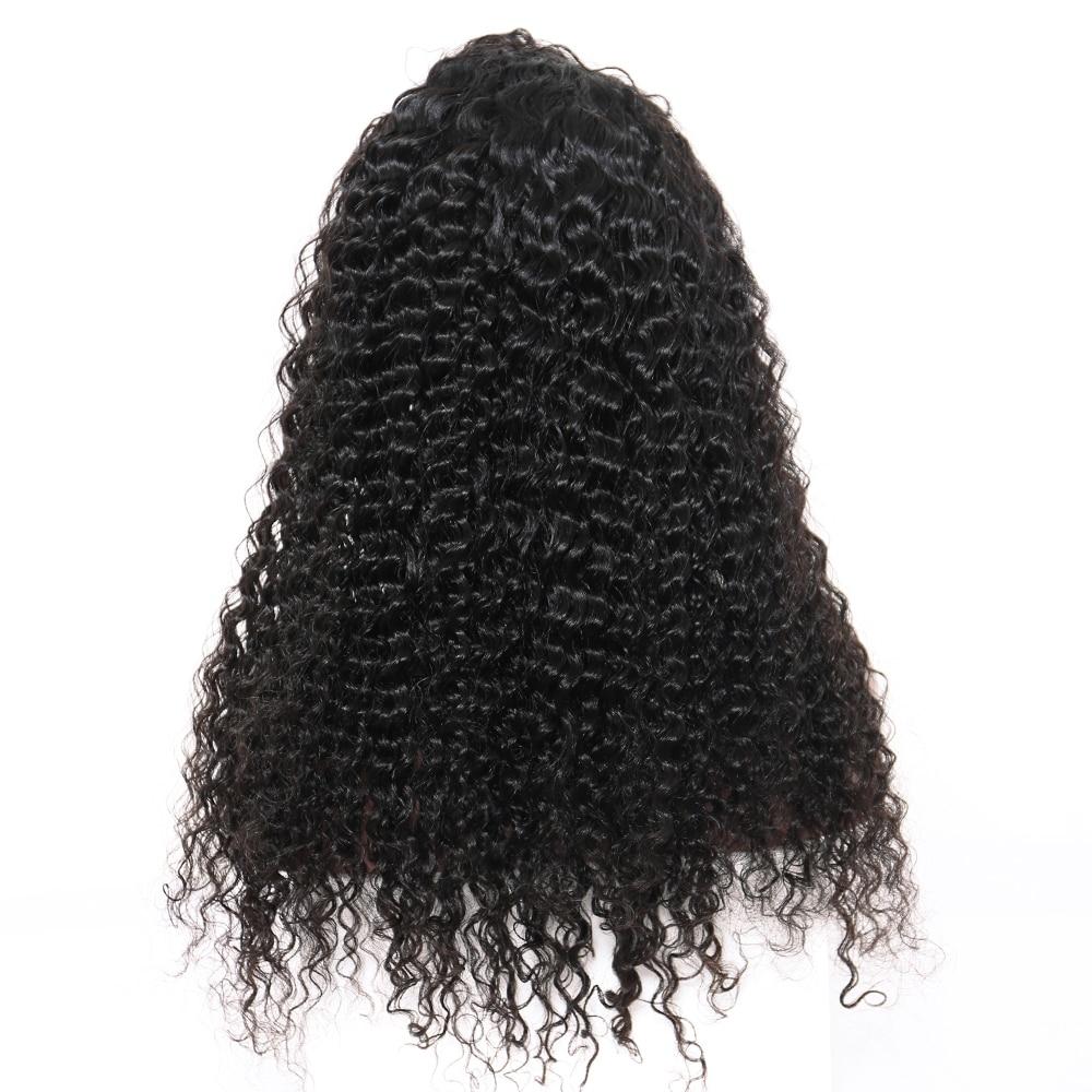 곱슬 머리 레이스 프런트 인간의 머리 가발 여성용 - 인간의 머리카락 (검은 색) - 사진 3