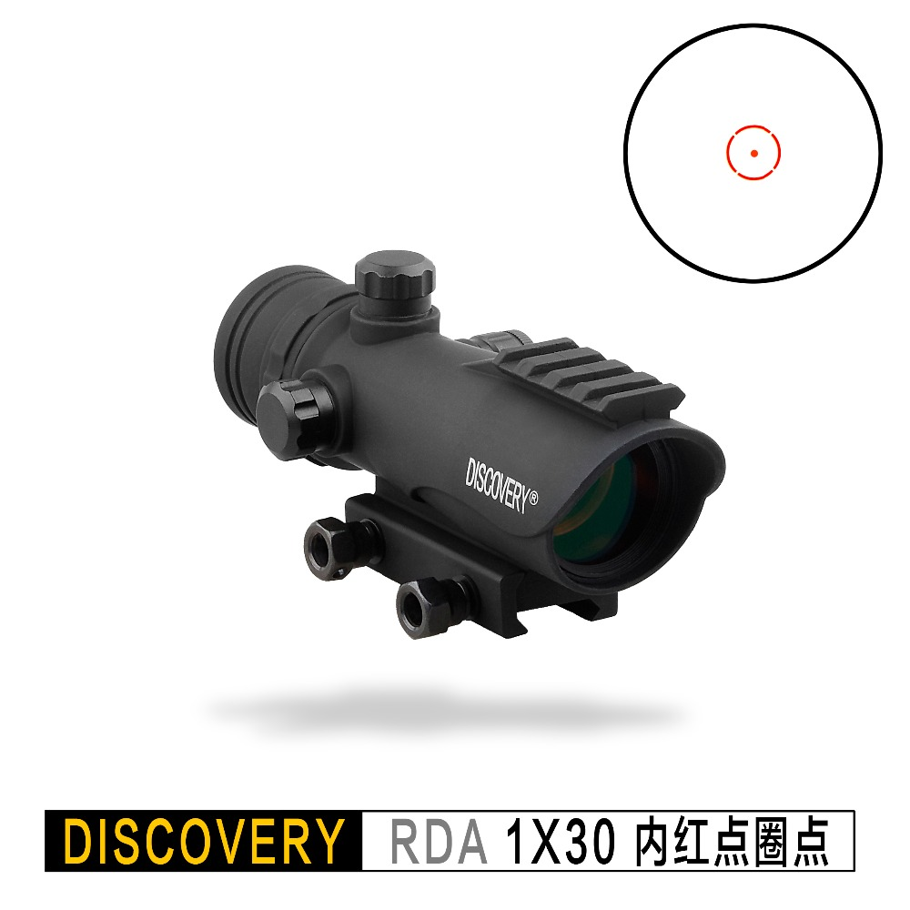 Discovery Red Dot RDA 1X30 Optical Sight Tactical Rifle Scope Optics Hunting Collimator For AK47 AR15 Fit  Picatinny 20mm Rail