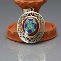 TBP341 Nepal Indian Handmade Colorful Stone Vintage Pendants Tibetan Oval Square Water Drop Pendants