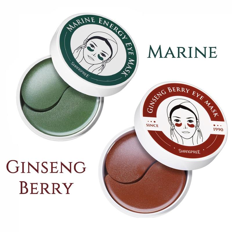Shangpree морские Драгоценности/ягоды женьшеня энергия маска для глаз 1,4 Г X 60 шт увлажняющие накладки для глаз удаление морщин темный круг