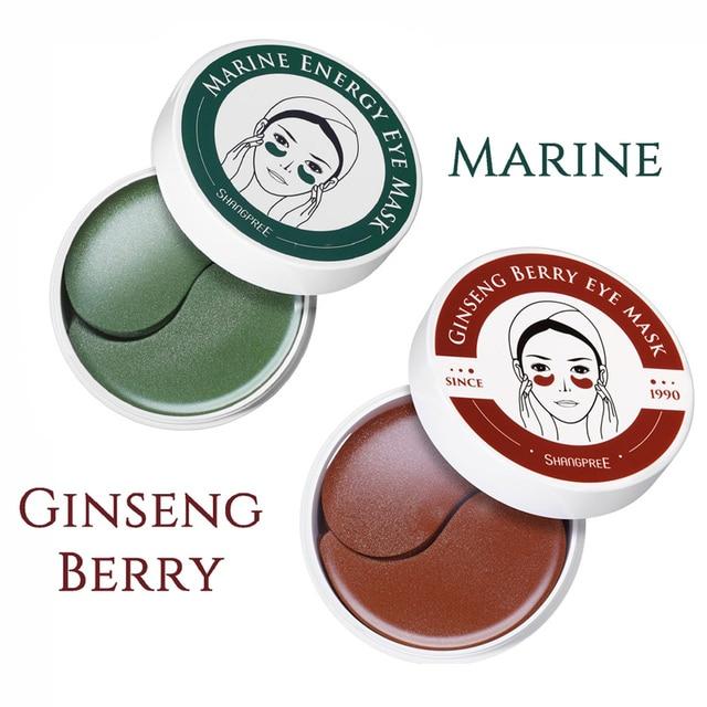 Shangpree Marine Jewel / Ginseng Berry Energy Eye Mask 1.4g X 60pcs Hydrating Under Eye Patch Pads Remove Wrinkles Dark Circle