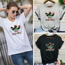 2QIMU Adicats Women T-Shirt Funny Print Casual O-Neck Fashion T-shirt for Summer Tops Female 2019