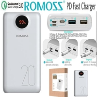 Romoss 20000mah Power Bank Quick Charge 3.0 PD QC3.0 Powerbank 20000 mah 18W 9V 2A 12V 1.5A for iPhone X Xiaomi Redmi Samsung