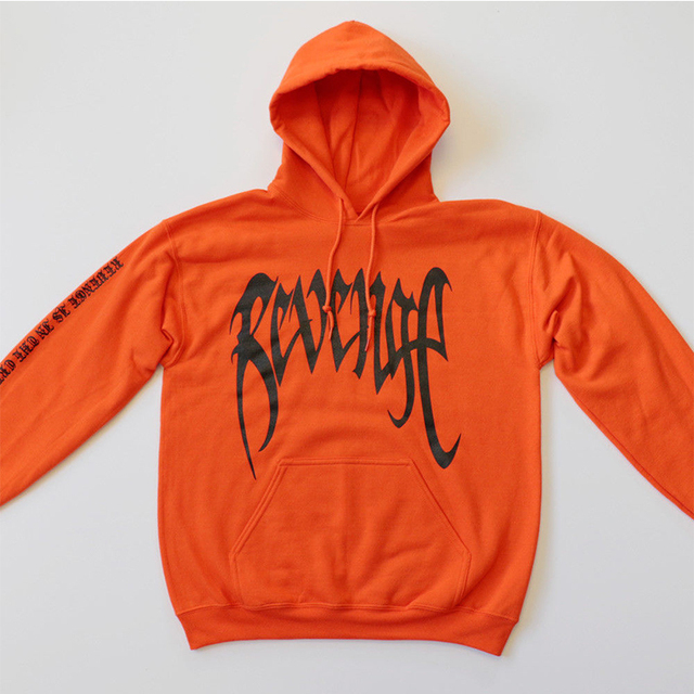 2018 NEW Hot revenge hoodie xxxtentacion cool letters palm print hooded sweatshirt men hip hop streetwear hoody pullover