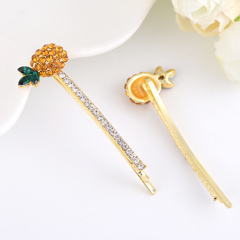 EASYA Simple Fashion Crystal Rhinestone Pineapple Hairgrips Hair  Accessories Women Girls Fruit Pineapple Hairpins Headwear-in Hair Jewelry  from Jewelry ... d51d4864532c