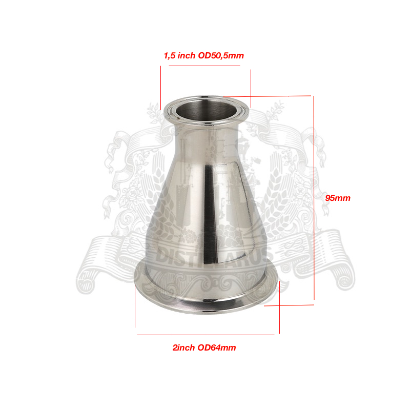 ¡Tri-Clamp reductor 1,5