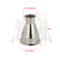 Tri Clamp Reducer 1 5 38mm OD50 5 X 2 51mm OD64 SS 304 Stainless Steel
