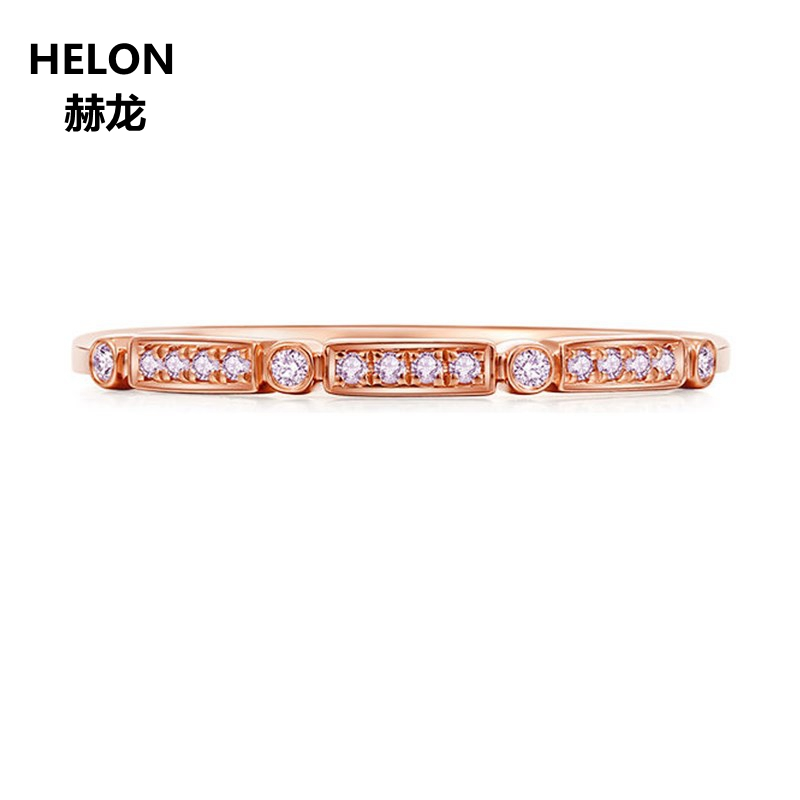 0.07ct SI/H Natural Diamonds Engagement Wedding Ring Solid 14k Rose Gold Women Anniversary Band Fine Jewelry0.07ct SI/H Natural Diamonds Engagement Wedding Ring Solid 14k Rose Gold Women Anniversary Band Fine Jewelry