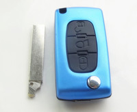 3 Buttons Replace Remote Key Shell Case Cover Fob Accessories Auto Parts For Peugeot CE0523
