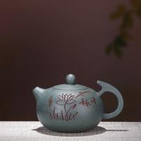 300mL Yixing Zisha pot handmade purple clay teapot Chinese kungfu tea set Home puer tea Boiling water tea kettle gift box