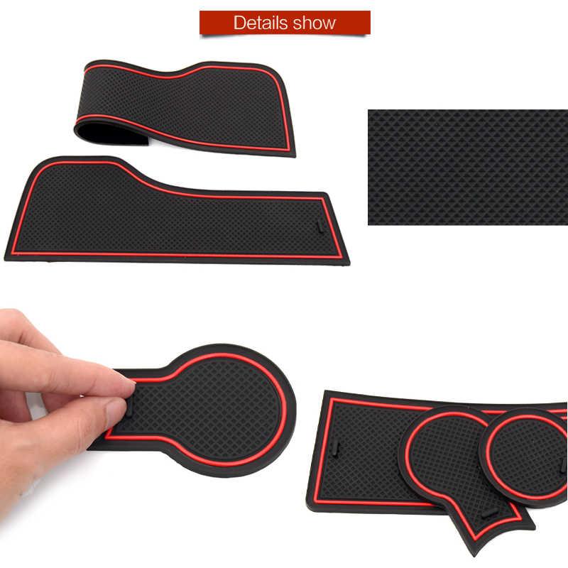 Alfombrilla de goma antideslizante para Mitsubishi ASX Lancer EVO X Outlander Pajero Sport Eclipse accesorios con forma de cruz pegatinas