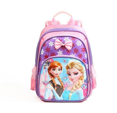 Новый Анна Эльза дети ранцы девушки мультфильм Снежная королева рюкзак Kids Fashion школьный в наличии
