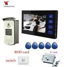 Yobang безопасность 7 «двухсторонний видеодомофон Hands-Free монитор дверной звонок водостойкий Открытый ИК-камера Электрический замок комплекты для домофона
