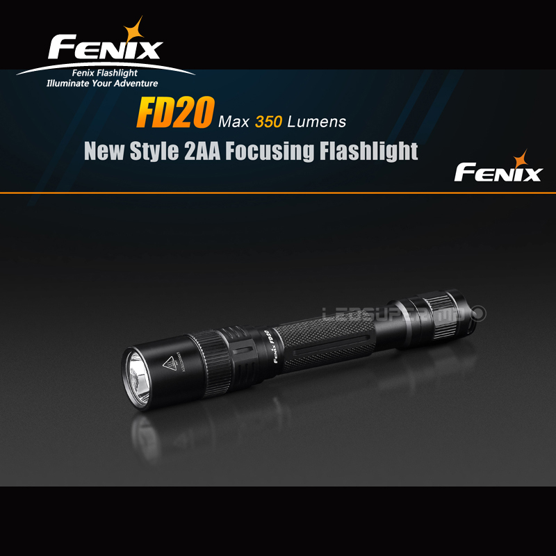 New Style Fenix FD20 CREE XP-G2 S3 LED Max 350 Lumens 2AA Focusing Flashlight with 2AA Batteries fenix cree xp e2 r5 led 450lumens 4aa batteries headlamp headlight
