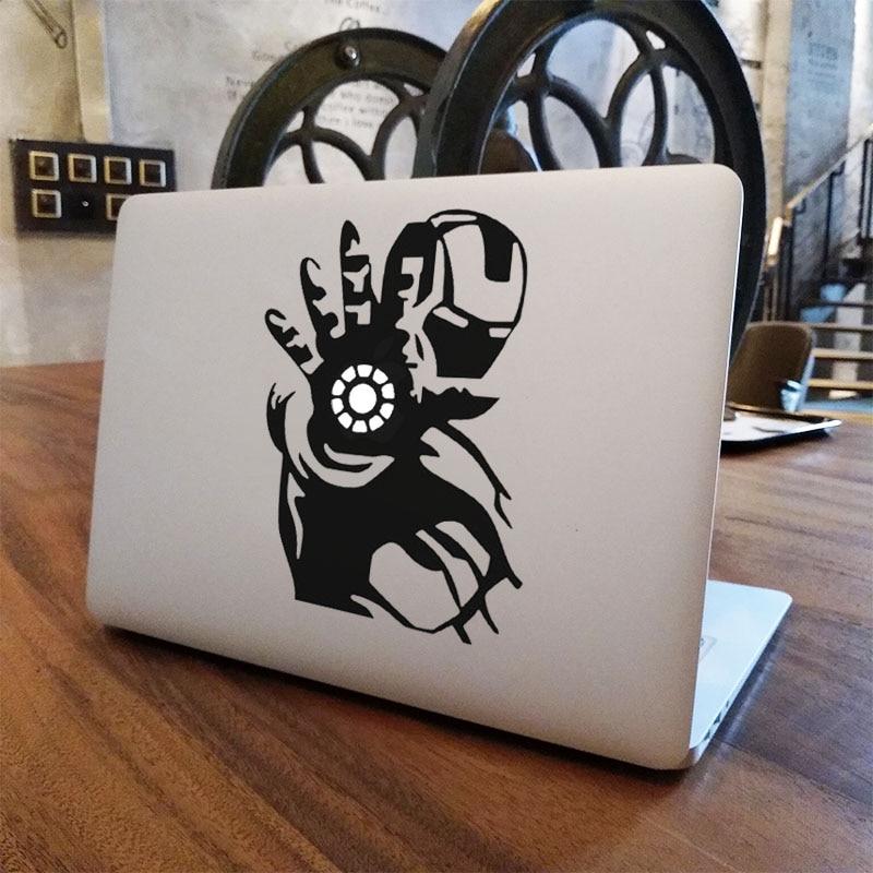 "Iron Man Shooting Glowing Laptop Sticker for Apple MacBook Air Pro 16"" Retina 11"" 12"" 13"" 15"" Vinyl Mac Book Skin Notebook Decal|skins art|mac cover stickers|mac sticker - title="