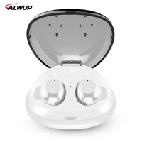 ALWUP Stereo Bluetooth Earphone Mini Sport Wireless Earphones In Ear Bluetooth Earbuds Built In Microphone With