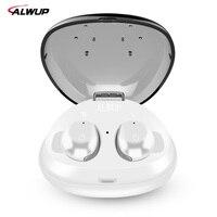 ALWUP Stereo Bluetooth Earphone Mini Sport Wireless Earphones In Ear Bluetooth Earbuds Built In Microphone With