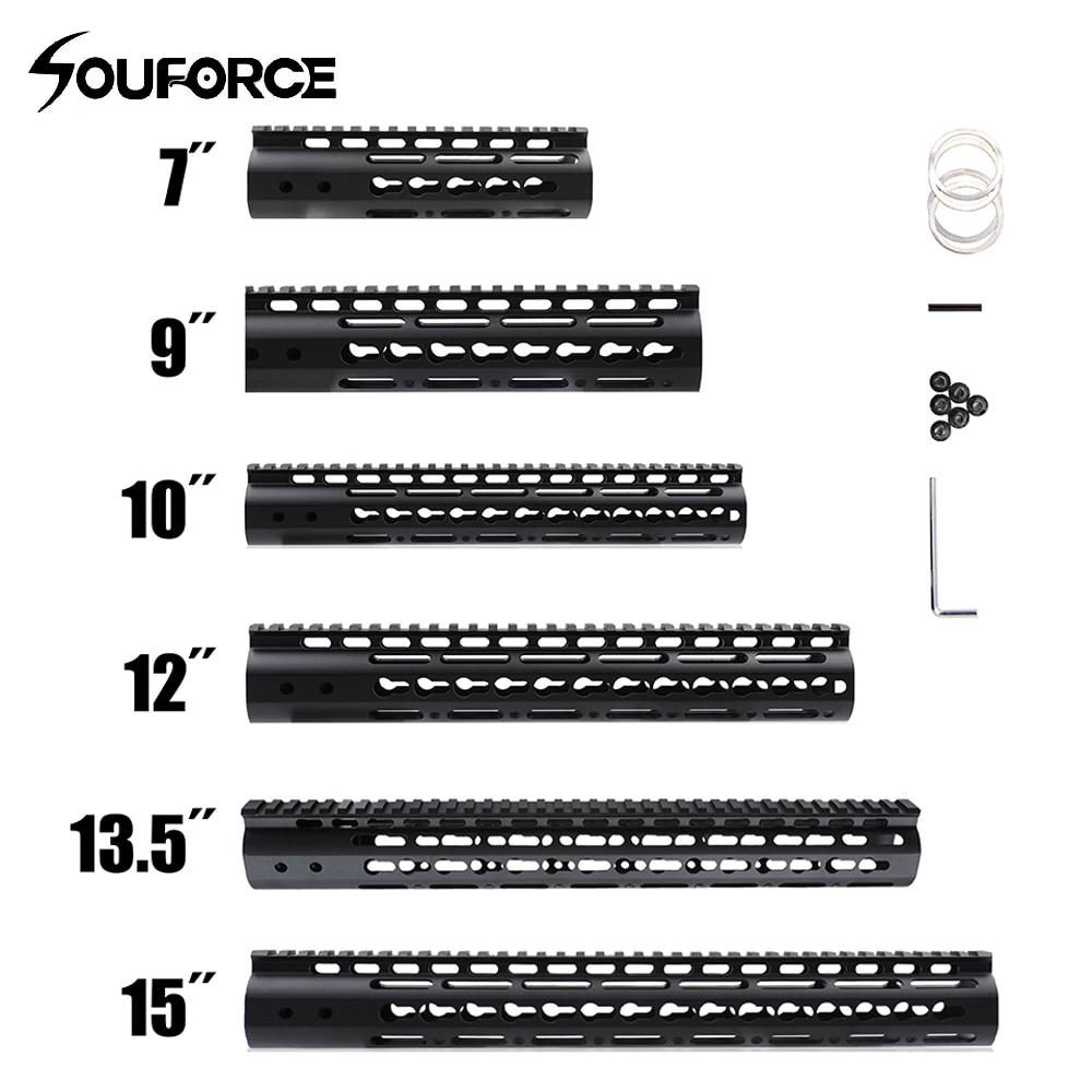 7 9 10 12 13.5 15 AR15 Free Float Keymod Handguard Picatinny Rail pour chasse Tactique Portée de Fusil de Montage