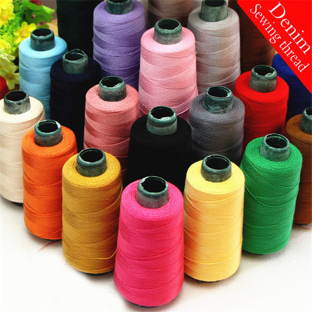 Denim Sewing Thread Roll, Thick Jeans Thread for Sewing, 100% polyester High strength Sofa Sewing supplies.One Roll =1400Yards