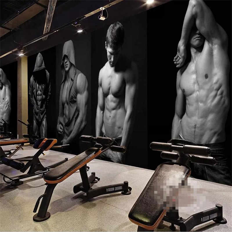 Gym bodybuilding boxing fitness bar background wall professional making  murals wholesale wallpaper custom poster photo wall