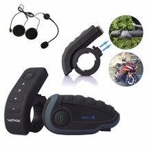 NEW 2PCS V8 BT Headset Bluetooth Motorcycle Helmet Intercom Moto Communication 5 Riders 1200M Full Duplex Interphone With FM NFC