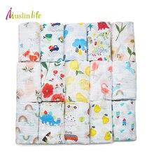 Muslinlife Cotton Breathable Baby Blanket Mutli-functional Muslin Baby